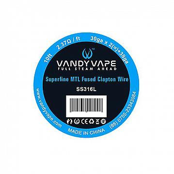 Rola Superfine MTL Fused Clapton SS316L 30ga*2+38ga Vandy Vape