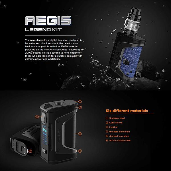 Kit Aegis Legend Zeus - Geekvape - Black Gunmetal