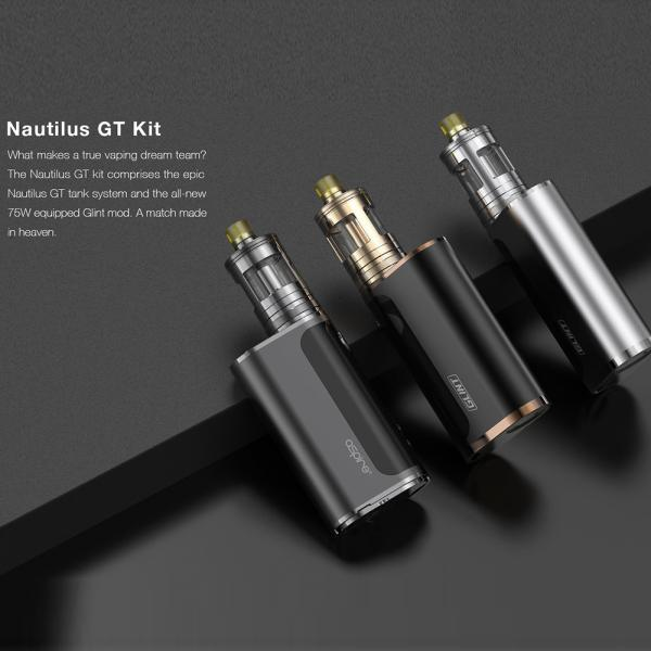 Kit Aspire Nautilus GT - Gun Metal