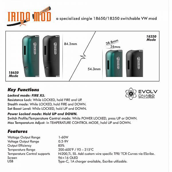 Mod Iaido DNA60 - Luxury Edition - BP Mods - Black