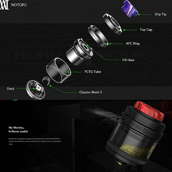 Atomizor Wotofo Profile M RTA - Black