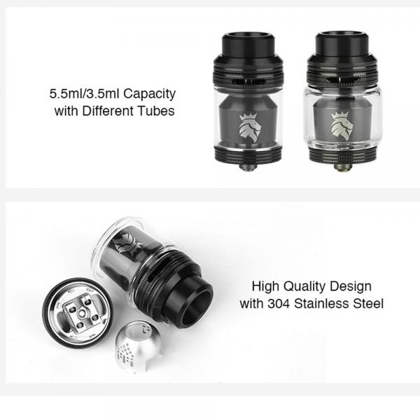 Atomizor Solomon 3 RTA Kaees - Black