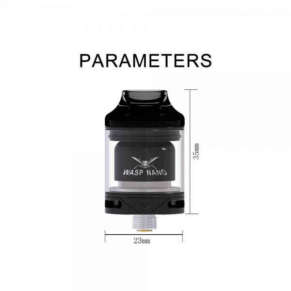 Atomizor Wasp Nano RTA Oumier - Black