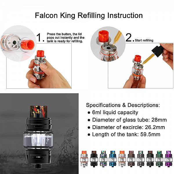 Atomizor Falcon King - HorizonTech - Black