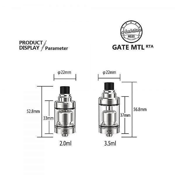 Atomizor Gate RTA Ambition Mods - SS