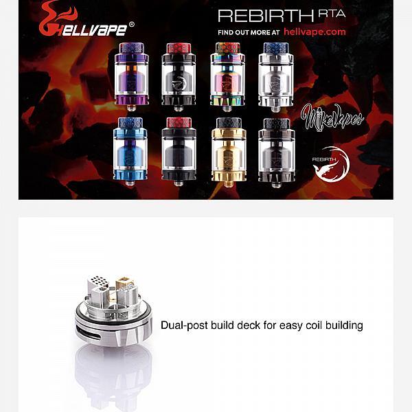 Atomizor Rebirth RTA Hellvape - Gun Metal