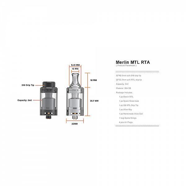 Atomizor Merlin MTL RTA