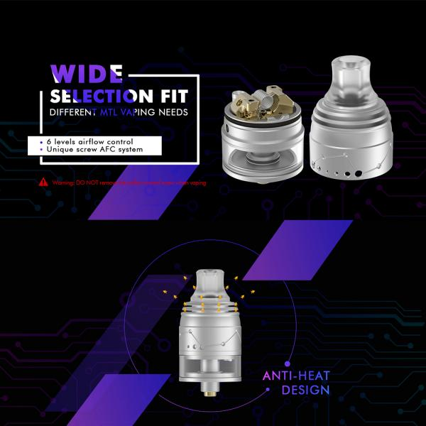 Atomizor Galaxies MTL Squonk RDTA By Vapefly - SS