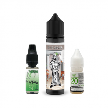 Pachet Lichid Flavor Madness The Grail 40ml + 1 Nicotine Shot 10ml - 20mg/ml - 50VG/50PG + 1 Baza VP...