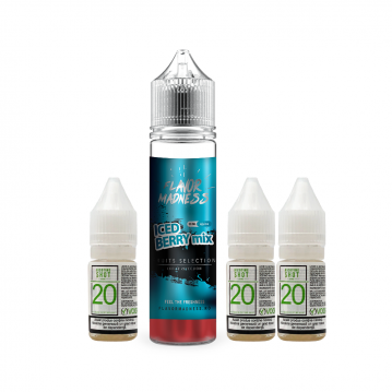 Pachet Lichid Flavor Madness Iced Berry Mix 30 ml + 3 Nicotine Shot 10ml - 20mg/ml - 50VG/50PG