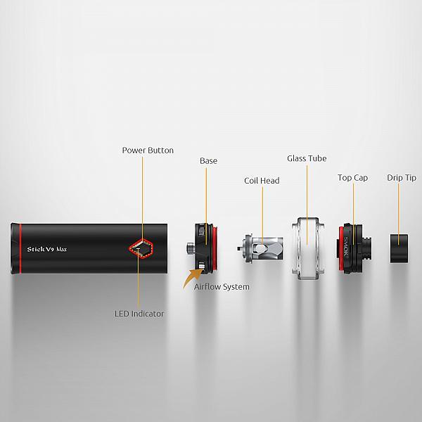 Kit Stick V9 Max Smok - Red