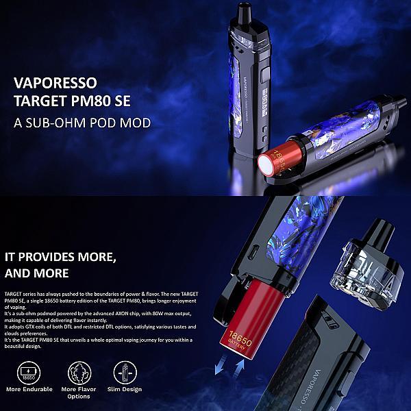 Kit Vaporesso Target PM80 SE - Black