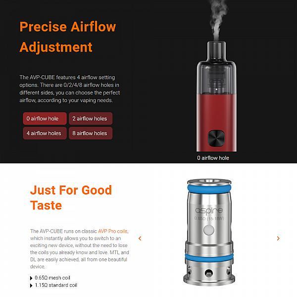 Kit Aspire AVP Cube - Jet Black
