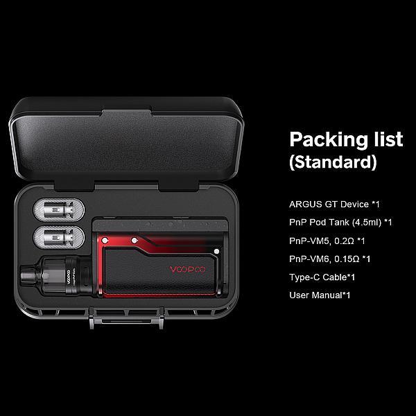 Kit Argus GT - Voopoo - Black Red