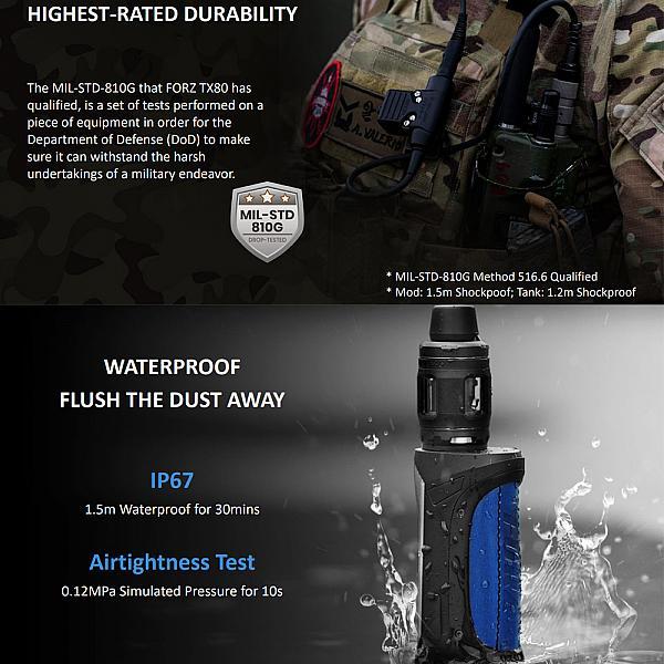 Kit Vaporesso Forz TX80 - Gunmetal Grey