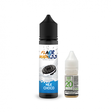 Pachet Lichid Flavor Madness Milk Choco 50ml + 1 Nicotine Shot 10ml - 20mg/ml - 70VG/30PG
