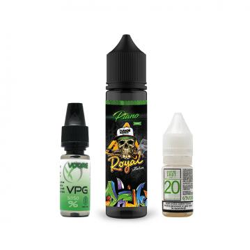 Pachet Lichid Flavor Madness Royal Piano 40ml + 1 Nicotine Shot 10ml - 20mg/ml - 50VG/50PG + 1 Baza ...