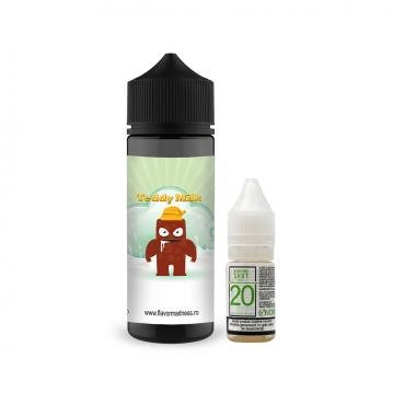 Pachet Lichid Flavor Madness Teddy Milk 100ml + 1 Nicotine Shot 10ml - 20mg/ml - 70VG/30PG