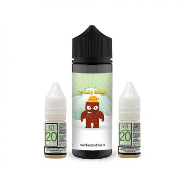 Pachet Lichid Flavor Madness Teddy Milk 100 ml + 2 Nicotine Shot 10ml - 20mg/ml - 70VG/30PG