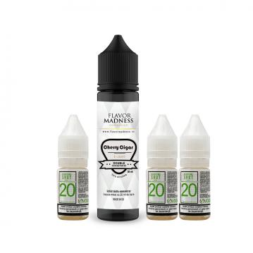 Pachet Lichid Flavor Madness Cherry Cigar 30 ml + 3 Nicotine Shot 10ml - 20mg/ml - 50VG/50PG