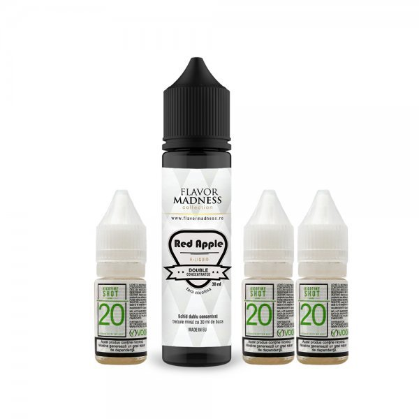 Pachet Lichid Flavor Madness Red Apple 3...