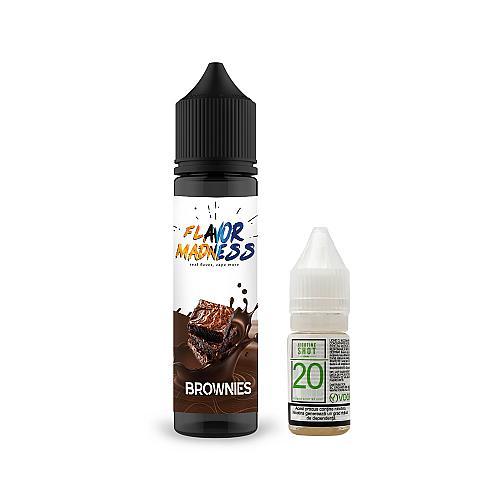 Pachet Lichid Flavor Madness Brownies 50ml + 1 Nicotine Shot 10ml - 20mg/ml - 70VG/30PG