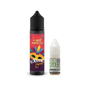 Pachet Lichid Flavor Madness Exotic Fusion 50ml + 1 Nicotine Shot 10ml - 20mg/ml - 70VG/30PG