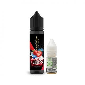 Pachet Lichid Flavor Madness Frozen Strawberry Yogurt 50ml + 1 Nicotine Shot 10ml - 20mg/ml - 70VG/3...
