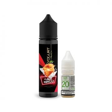 Pachet Lichid Flavor Madness Yogurt Peach 50ml + 1 Nicotine Shot 10ml - 20mg/ml - 70VG/30PG