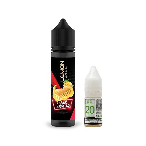Pachet Lichid Flavor Madness Lemon Wafers 50ml + 1 Nicotine Shot 10ml - 20mg/ml - 70VG/30PG
