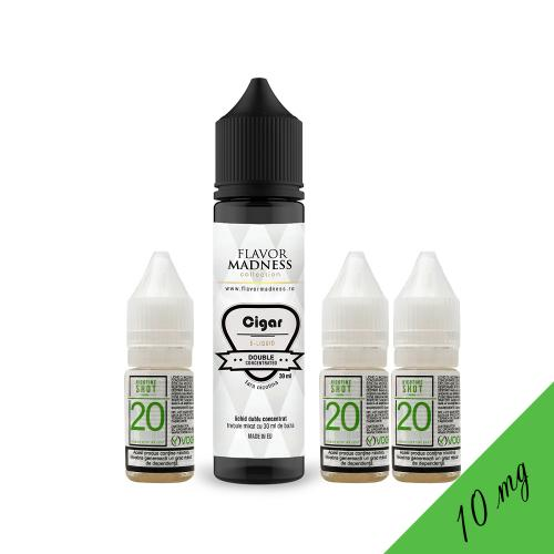 Pachet Lichid Flavor Madness Cigar 30 ml + 3 Nicotine Shot 10ml - 20mg/ml - 50VG/50PG