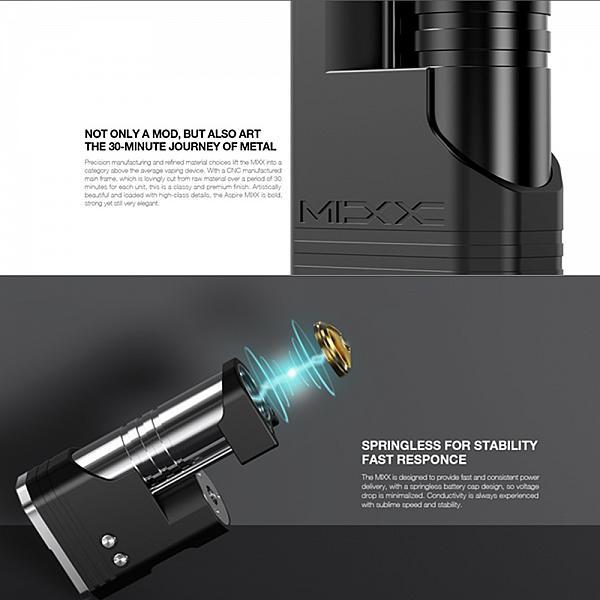 Mod MIXX 60W -Aspire & SunBox - Quick Silver