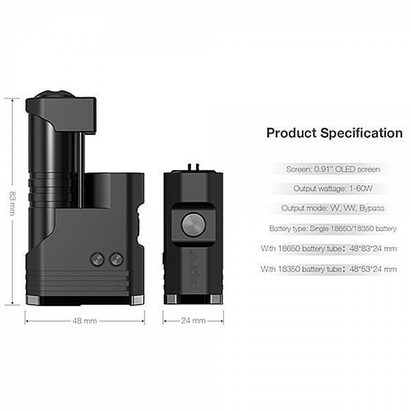 Mod MIXX 60W -Aspire & SunBox - Jet Black