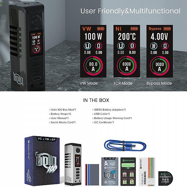 Mod Odin 100 - Dovpo/Vaperz Cloud - Gunmetal