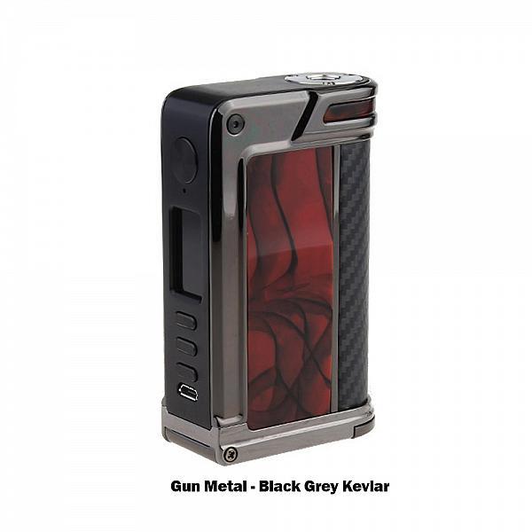 Mod Lost Vape Paranormal DNA 250C - Chopped Carbon Fiber Gun Metal Red Black Kevlar
