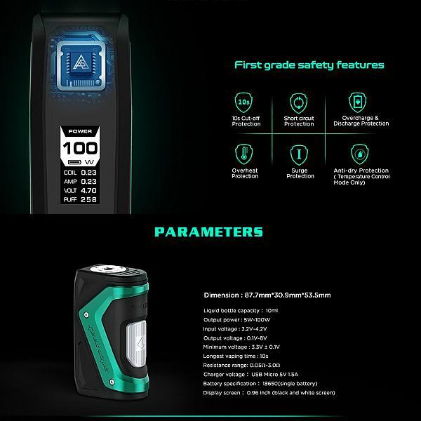 Mod Aegis Squonk 100W Geekvape - Silver