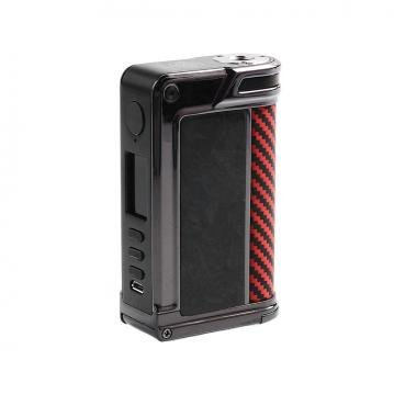 Mod Lost Vape Paranormal DNA 250C - Chopped Carbon Fiber Gun Metal Red Black Kevlar