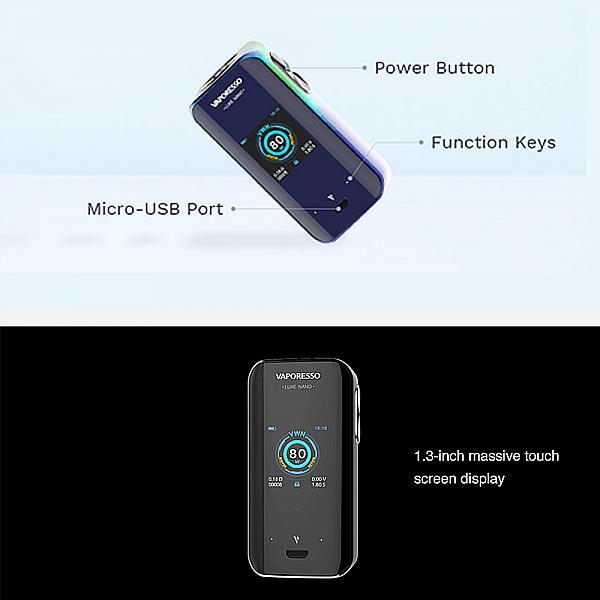 Mod Luxe Nano Vaporesso - Black