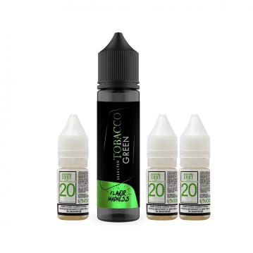 Pachet Lichid Flavor Madness Tobacco Green 30 ml + 3 Nicotine Shot 10ml - 20mg/ml - 50VG/50PG